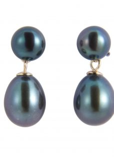 A B Davis Freshwater Pearl Drop Earrings