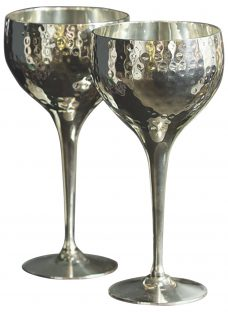 Culinary Concepts Hammered Wine Goblets