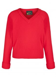 Plain Unisex School V-Neck Acrylic Jumper