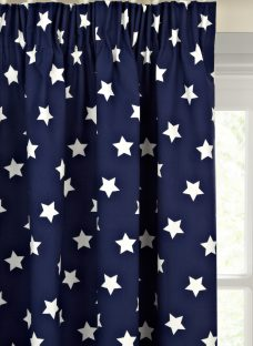 little home at John Lewis Glow in the Dark Star Blackout Lined Pencil Pleat Children's Curtains