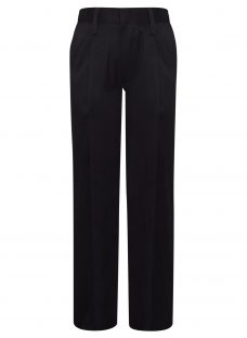 John Lewis Boys' Pure Cotton Adjustable Waist Straight Leg School Trousers