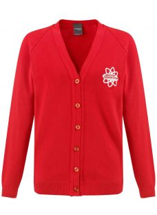 East London Science School Girls' V-Neck Cardigan