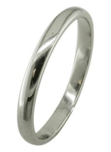 EWA Platinum 2.5mm Court Wedding Ring