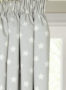 little home at John Lewis Star Pencil Pleat Blackout Lined Children's Curtains