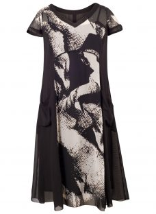 Chesca Abstract Print Dress