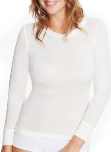 John Lewis Ribbed Long Sleeve Silk Thermal Vest