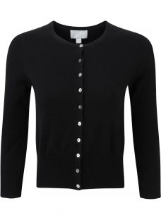 Pure Collection Cashmere Cropped Cardigan