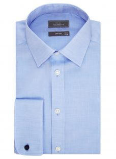 John Lewis Non Iron Twill Double Cuff Tailored Fit Shirt