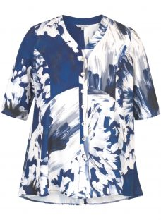 Chesca Abstract Block Flower Print Jacket