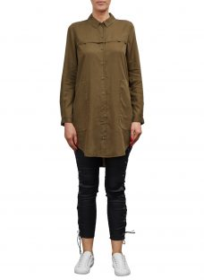 French Connection Military Tencil Shirt Dress
