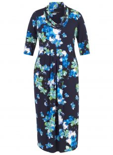 Chesca Abstract Floral Print Dress