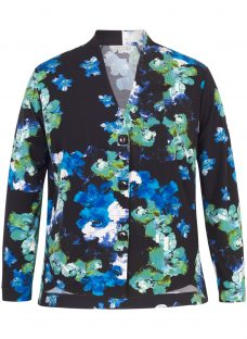 Chesca Abstract Floral Print Shrug