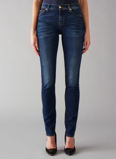 7 For All Mankind Roxanne Mid Rise B(air) Slim Jeans