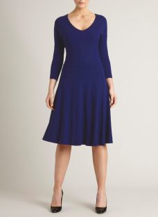 Winser London V Neck Flared Dress