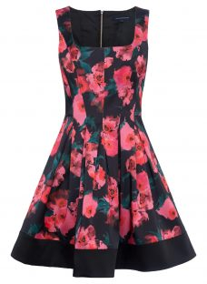 French Connection Allegro Poppy Satin Dress