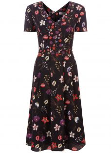 Fenn Wright Manson Antibes Botanical Print Dress