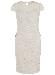 Gina Bacconi Corded Dainty Antique Dress