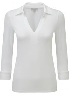 Pure Collection Danielle Collared Jersey Top