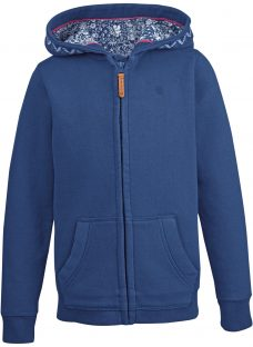 Fat Face Girls' Seagull Graphic Zip Through Hoodie