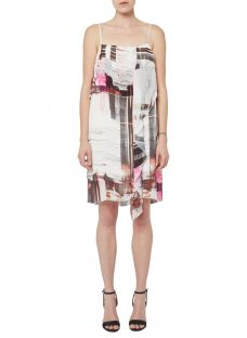French Connection Cornell Sheer Printed Dress