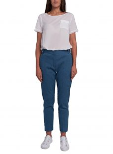 French Connection Indi Bour Linen Tapered Trousers