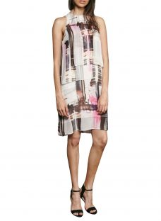 French Connection Cornell Sheer Print Dress