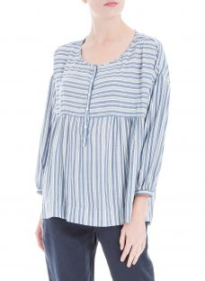 Max Studio 3/4 Sleeve Stripe Blouse