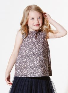 Wheat Girls' Floral Printed Top