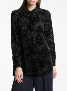 Bruce by Bruce Oldfield Button Through Devore Blouse