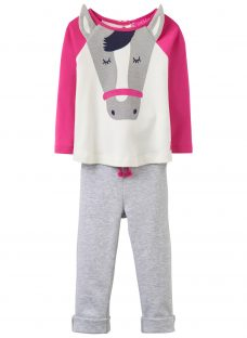 Baby Joule Baby Amalie Horse Top and Trousers Set