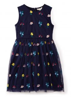Yumi Girl Floral Embroidered Mesh Dress