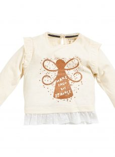 Angel & Rocket Baby Maia Heart Sparkle Top