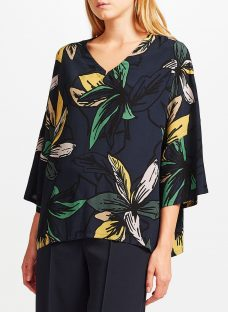Kin by John Lewis Japanese Floral Oversized Top