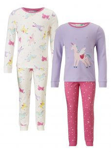 John Lewis Children's Unicorn Print Pyjamas