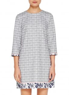 Ted Baker Colour By Numbers Lealla Geo Floral Print Shift Dress