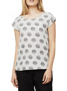 East Linen Organic Spot Shell Top