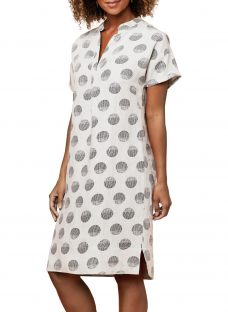 East Linen Organic Spot Shift Dress
