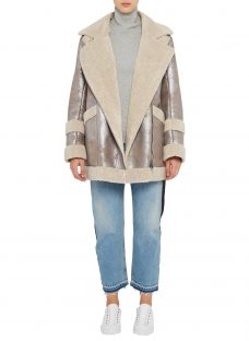 French Connection Zelda Shearling Coat