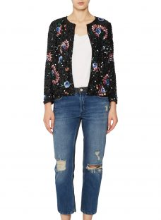 French Connection Valerie Sparkle Long Sleeve Jacket