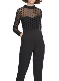 French Connection Lea Mesh High Neck Jumpsuit