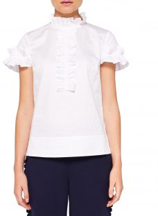 Ted Baker Saidii Frill Detail Cotton Blouse