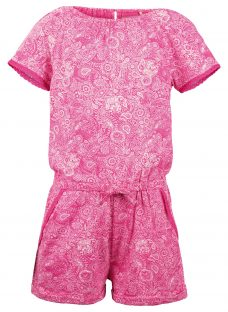 Fat Face Girls' Paisley Jersey Playsuit