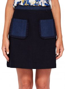 Ted Baker Aaloo Colour By Numbers Denim Skirt
