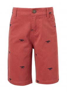 John Lewis Boys' Dinosaur Embroidered Shorts