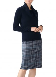 Pure Collection Cashmere Cowl Neck Sweater