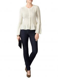 Pure Collection Cashmere Flute Sleeve Cardigan