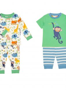 John Lewis Baby Monkey Friends Jersey Pyjamas