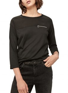Gerard Darel Ursulines Two Tone Zip Detail T-Shirt