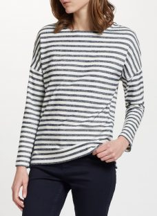 Collection WEEKEND by John Lewis Cotton Drop Sleeve Stripe Top