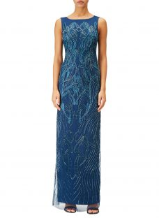 Adrianna Papell Petite Beaded Long Dress